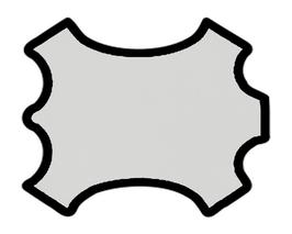 Peau de chèvre gris perle