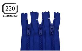 Fermeture éclair YKK bleu indigo en nylon non séparable