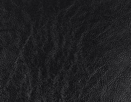 Coupon de cuir de vachette noir grainé vernis