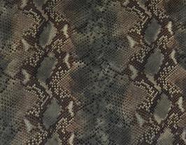 Morceau de cuir de chèvre kaki imprimé python