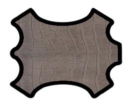 Peau d'agneau chocolat imprimé crocodile