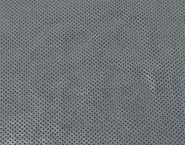 Morceau de cuir de vachette nubuck perforé argenté