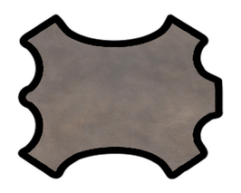 Demi peau de vachette doré antique