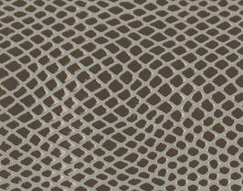Coupon de cuir de chèvre doré imprimé serpent