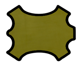Peau d'agneau velours vert pistache