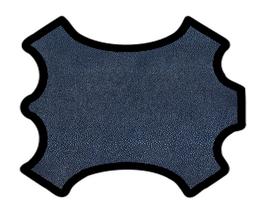 Peau de chèvre bleu métallisé grains caviar