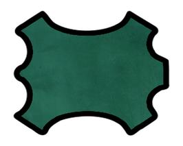 Peau de veau velours vert bouteille