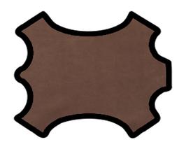 Demi peau de vachette marron