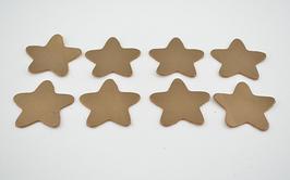 8 étoiles en cuir de vachette doré