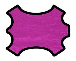 Peau d'agneau nappa rose métallisé