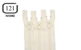 Fermeture éclair YKK ivoire en nylon non séparable