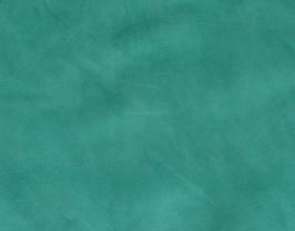 Morceau de cuir d'agneau velours vert émeraude