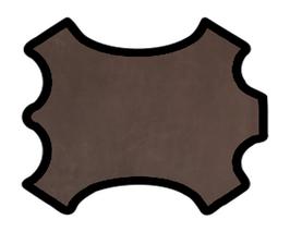 Demi peau de vachette nubuck marron foncé vintage