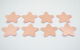 8 étoiles en cuir d'agneau nude