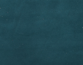 Coupon de cuir d'agneau velours vert paon
