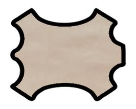 Peau de chèvre rose saumoné métallisé
