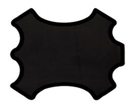 Peau d'agneau noir imprimé lézard