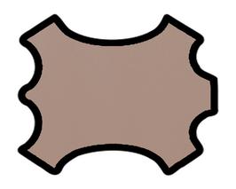 Demi peau de vachette rose saumoné vernis