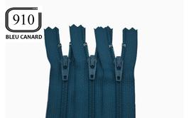Fermeture éclair YKK bleu canard en nylon non séparable