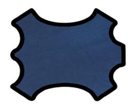 Demi peau de vachette washed bleu navy