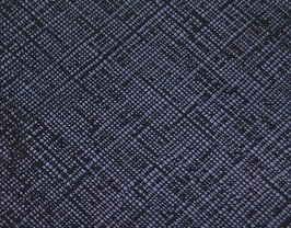 Coupon de cuir de vachette bleu métallisé