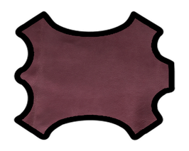 Peau d'agneau rose balais métallisé