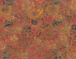 Morceau de cuir de vachette multicolore imprimé fleurs