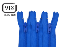 Fermeture éclair YKK bleu roi en nylon non séparable
