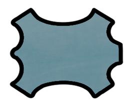Peau de chèvre bleu azur
