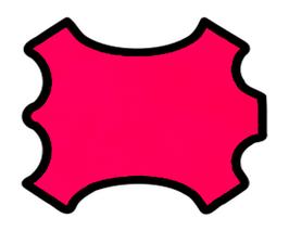 Peau d'agneau nappa rose fluo