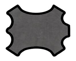 Demi peau de vachette nubuck gris anthracite