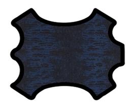 Peau de chèvre noir et bleu imprimée python