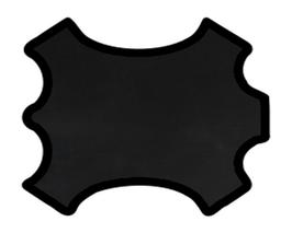 Peau d'agneau nappa noir opaque