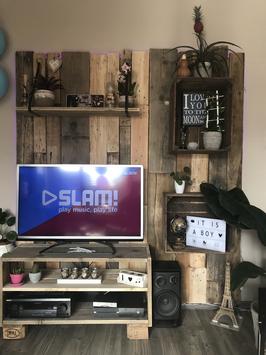 Tv meubel van sloophout, pallethout en fruitkisten