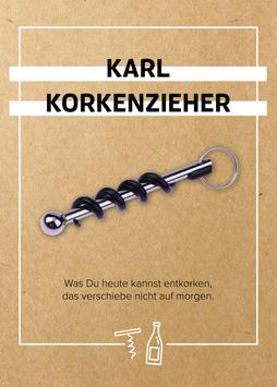 Karl Korkenzieher - Schlüsselanhänger