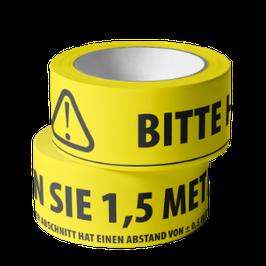 Klebeband - BITTE HALTEN SIE 1,5 METER ABSTAND