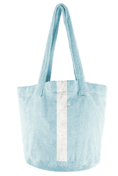 BEACH BASKET - Ice Blue - Streifen