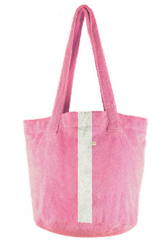 BEACH BASKET - Rosé - Streifen