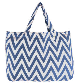 BEACH BAG  - ZigZag - Blau/Weiß