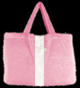 BEACH BAG  -  Rosé - Streifen