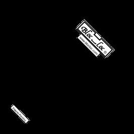 Half Square Triangle Ruler (HST) metrisch 15 cm x 15 cm, Bloc_Loc