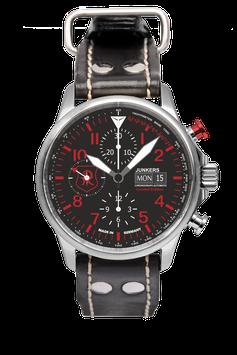 """Junkers Edition """"Richthofenspirt"""" Chronometer Sternwarte Glashütte Edelstahl"""