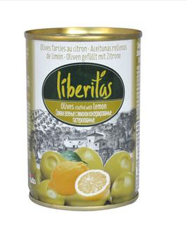 Oliven gefüllt mit Zitronenpaste 280g- Dose  ( Liberitas)