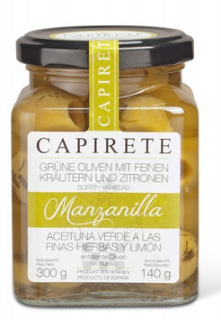 CAPIRETE  Oliven mit Kräutern und kandierter Zitrone 300 g