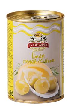 Grüne Oliven gefüllt mit Zitronenpaste 300 g Dose