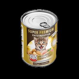 SUPER PREMIUM NASSFUTTER, GEFLÜGEL + KARTOFFELN