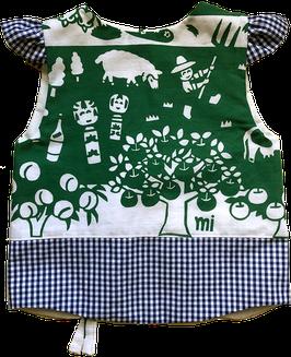 肩フリル シマスモック:宮城蔵王戯画ー緑