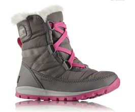 Sorel Children's Whitney Short Lace Quarry, Pink Ice