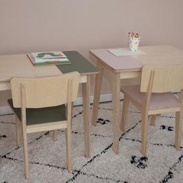 Kindertafel met stoel | Baasis Groen of Roze