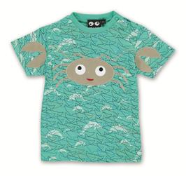 "Ubang, Baby T-Shirt ""Crab Tee"", Sea Aqua"